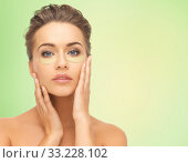 Купить «beautiful young woman face with under-eye patches», фото № 33228102, снято 17 марта 2013 г. (c) Syda Productions / Фотобанк Лори