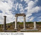 Ancient Columns Lining Main Road at Perga in Turkey. Стоковое фото, фотограф Scott Griessel / PantherMedia / Фотобанк Лори