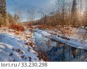 Frosty november landscape. Стоковое фото, фотограф Julia Shepeleva / Фотобанк Лори