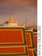 Купить «THAILAND BANGKOK WAT RATCHANATDARAM GOLDEN MOUNT», фото № 33232202, снято 2 июля 2020 г. (c) PantherMedia / Фотобанк Лори
