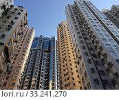 High rise apartment buildings, Hong Kong (2019 год). Стоковое фото, фотограф Александр Подшивалов / Фотобанк Лори