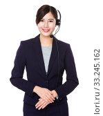 Купить «Professional customer services officer», фото № 33245162, снято 8 апреля 2020 г. (c) PantherMedia / Фотобанк Лори
