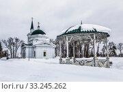 St. John the Baptist Church in the Nagorny cemetery Barnaul, Russia (2020 год). Стоковое фото, фотограф Наталья Волкова / Фотобанк Лори