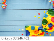 Colorful polka dot party bow tie. Стоковое фото, фотограф Daniel Reiter / PantherMedia / Фотобанк Лори