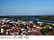 View from Speyer Cathedral over Speyer to the Rhine. Стоковое фото, фотограф Andrea Abt / PantherMedia / Фотобанк Лори