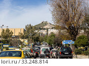 Купить «Central street in Athens (Greece)», фото № 33248814, снято 26 февраля 2020 г. (c) Татьяна Ляпи / Фотобанк Лори