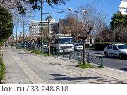Купить «Central street in Athens (Greece)», фото № 33248818, снято 26 февраля 2020 г. (c) Татьяна Ляпи / Фотобанк Лори
