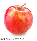 Купить «red apple isolated on white with clipping path», фото № 33249782, снято 3 июня 2020 г. (c) PantherMedia / Фотобанк Лори