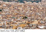Фон из скопления домов. Фес. Марокко (2013 год). Стоковое фото, фотограф Сергей Афанасьев / Фотобанк Лори