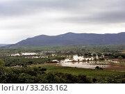 Купить «Country landscape flooded after heavy rains», фото № 33263162, снято 16 июля 2020 г. (c) PantherMedia / Фотобанк Лори