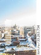 """Вид на """"Трёхгорную мануфактуру"""" из окна Центра международной торговли (ЦМТ) Редакционное фото, фотограф Алёшина Оксана / Фотобанк Лори"""