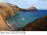 Landscape of Ponta de Sao Laurenco Nature reserve, Madeira. Стоковое фото, фотограф Edwin Giesbers / Nature Picture Library / Фотобанк Лори