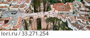 Ronda cityscape aerial photography, Malaga, Spain (2019 год). Стоковое фото, фотограф Alexander Tihonovs / Фотобанк Лори