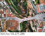 Aerial photography Ronda cityscape. Costa del Sol, Malaga, Spain (2019 год). Стоковое фото, фотограф Alexander Tihonovs / Фотобанк Лори