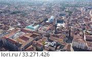 Купить «Panoramic aerial view of ancient Padua downtown on sunny autumn day, Italy», видеоролик № 33271426, снято 5 сентября 2019 г. (c) Яков Филимонов / Фотобанк Лори
