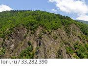 Купить «View of the Goderdzi pass. Caucasus Mountains. Georgia», фото № 33282390, снято 13 июля 2019 г. (c) Евгений Ткачёв / Фотобанк Лори