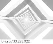 Купить «Abstract white tunnel perspective background. 3 d», иллюстрация № 33283922 (c) EugeneSergeev / Фотобанк Лори