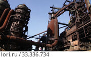 Купить «Closed metallurgical plant in Lower Vítkovice, part of famous tourist industrial complex, Ostrava, Czech Republic», видеоролик № 33336734, снято 4 августа 2020 г. (c) Яков Филимонов / Фотобанк Лори