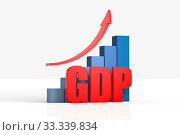 Chart and arrow with GDP ,business concept. Стоковое фото, фотограф Zoonar.com/zhu difeng / easy Fotostock / Фотобанк Лори