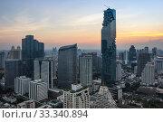 Купить «Top view of Bangkok on sunset», фото № 33340894, снято 20 января 2017 г. (c) Юлия Белоусова / Фотобанк Лори