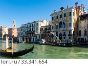 Купить «Venice cityscape with Grand canal», фото № 33341654, снято 5 сентября 2019 г. (c) Яков Филимонов / Фотобанк Лори