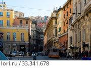 Genoa streets, Italy (2017 год). Редакционное фото, фотограф Яков Филимонов / Фотобанк Лори