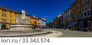 View of Victory Square, Gorizia, Italy (2019 год). Стоковое фото, фотограф Яков Филимонов / Фотобанк Лори