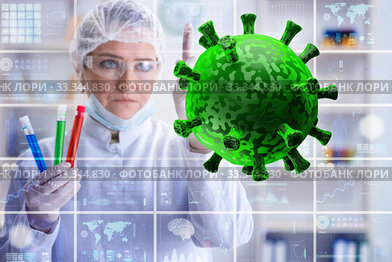 Doctor researching coronavirus in the lab