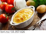 Купить «Potato casserole with meat», фото № 33357026, снято 17 июня 2019 г. (c) Надежда Мишкова / Фотобанк Лори