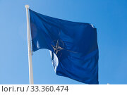NATO flag. Стоковое фото, фотограф Яков Филимонов / Фотобанк Лори