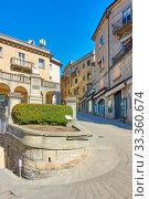 Купить «Garibaldi Square in San Marino», фото № 33360674, снято 28 февраля 2020 г. (c) Роман Сигаев / Фотобанк Лори