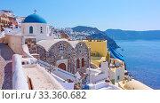 Santorini island in Greece (2018 год). Стоковое фото, фотограф Роман Сигаев / Фотобанк Лори