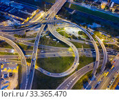 Купить «Highway road at night», фото № 33365470, снято 10 сентября 2018 г. (c) Яков Филимонов / Фотобанк Лори