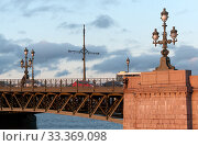 Купить «Фонари на Троицком мосту. Санкт-Петербург», фото № 33369098, снято 6 марта 2020 г. (c) Румянцева Наталия / Фотобанк Лори