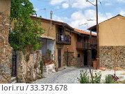 Купить «The narrow mediaeval street of old Kakopetria. Nicosia District. Cyprus», фото № 33373678, снято 11 июня 2018 г. (c) Serg Zastavkin / Фотобанк Лори