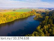Купить «Autumn river landscape», фото № 33374638, снято 15 октября 2019 г. (c) Яков Филимонов / Фотобанк Лори