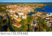 Купить «Aerial view of Jindrichuv Hradec, Czech Republic», фото № 33374642, снято 12 октября 2019 г. (c) Яков Филимонов / Фотобанк Лори