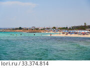 Poseidon beach located between Ayia Napa the Sotira village. Cyprus (2018 год). Редакционное фото, фотограф Serg Zastavkin / Фотобанк Лори