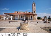 Church of Apostolos Lukas in Kolossi village. Limassol District. Cyprus (2018 год). Стоковое фото, фотограф Serg Zastavkin / Фотобанк Лори