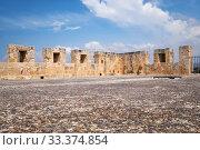 Купить «The roof of the Kolossi Castle surrounded by the battlements. Kolossi. Cyprus», фото № 33374854, снято 12 июня 2018 г. (c) Serg Zastavkin / Фотобанк Лори