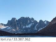Купить «Laguna Duff, Cerro Castillo National Park, Patagonia, Chile. January 2017.», фото № 33387362, снято 8 апреля 2020 г. (c) Nature Picture Library / Фотобанк Лори
