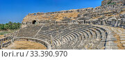 Купить «The interior of the Miletus Ancient Theatre in Turkey», фото № 33390970, снято 20 июля 2019 г. (c) Sergii Zarev / Фотобанк Лори