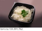Купить «Chinese noodles portion view», фото № 33391762, снято 6 апреля 2020 г. (c) Гурьянов Андрей / Фотобанк Лори