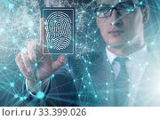 Купить «Biometrics security access concept with fingerprint», фото № 33399026, снято 27 мая 2020 г. (c) Elnur / Фотобанк Лори