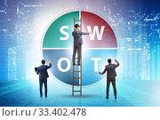 Купить «SWOT technique concept for business», фото № 33402478, снято 6 апреля 2020 г. (c) Elnur / Фотобанк Лори