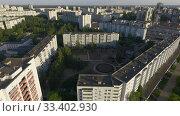 Купить «Flying over city roofs», видеоролик № 33402930, снято 8 апреля 2020 г. (c) Данил Руденко / Фотобанк Лори