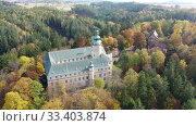 Купить «View of medieval Lemberk Castle. Czech Republic», видеоролик № 33403874, снято 19 октября 2019 г. (c) Яков Филимонов / Фотобанк Лори