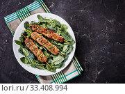 Купить «Restaurant serving of lamb kabob on a white plate», фото № 33408994, снято 2 февраля 2020 г. (c) Oksana Zh / Фотобанк Лори