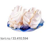 Купить «Meringue on a saucer», фото № 33410594, снято 18 января 2014 г. (c) Parmenov Pavel / Фотобанк Лори