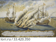 Купить «Battle of Toulon, 1796. Painted by JM Moraleda y Monero. Museo Naval de Madrid, Spain.», фото № 33420350, снято 13 декабря 2019 г. (c) age Fotostock / Фотобанк Лори